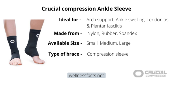 Crucial compression ankle Sleeve