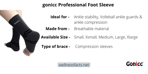 gonicc Professional Foot Sleeve Review